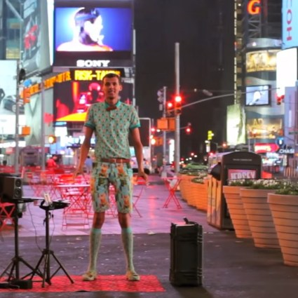 "Stromae joue ""Papaoutai"" à New York City"