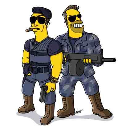 Sylvester Stallone & Arnold Schwarzenegger - Expandables
