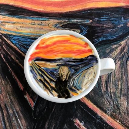 Latte art / Les oeuvres impressionnantes et funs d'un Barista coréen