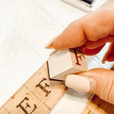 Diy Scrabble Letters