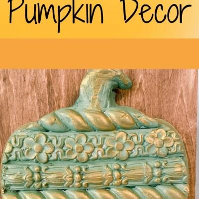 DIY Textured Pumpkin Decor for fall decor