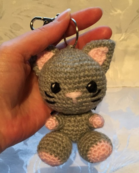 Kiki the Kitten Keyring Pattern - held for size
