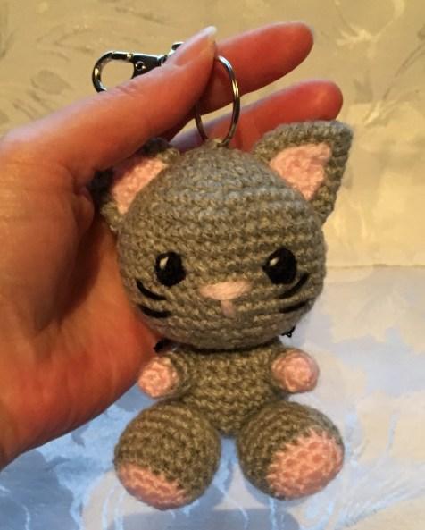 Kiki the Kitten Keyring Pattern - held for size