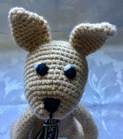Handmade Crochet Kangaroo - Head