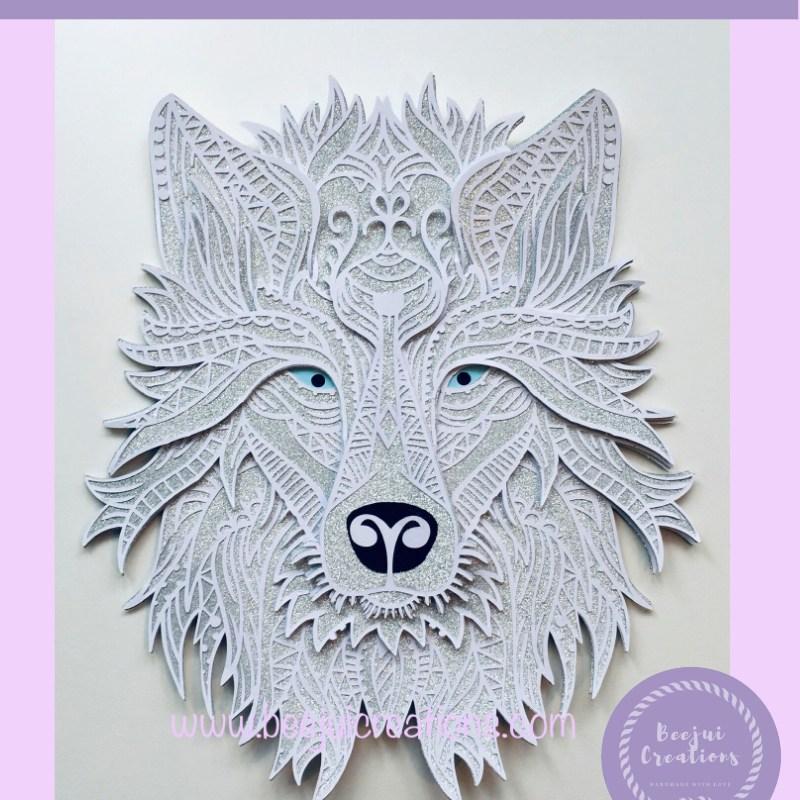 3D Mandala Grey Wolf - Layered Cricut Design Space Project
