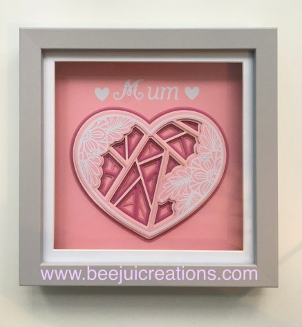 Pink Mum Heart Framed