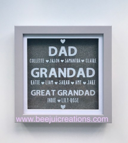 Personalised Fathers Day Frame