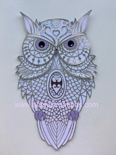 3D Mandala Silver Owl - Layered Free File Link