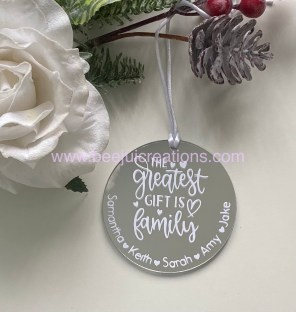 Greatest Gift Personalised Ornament