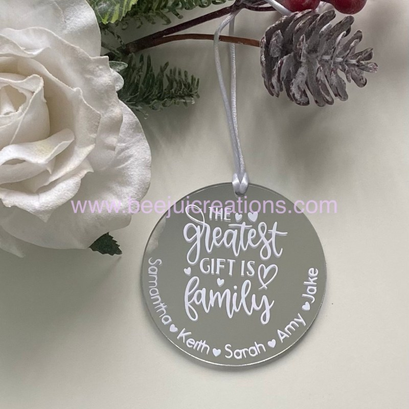 Greatest Gift Family ornament