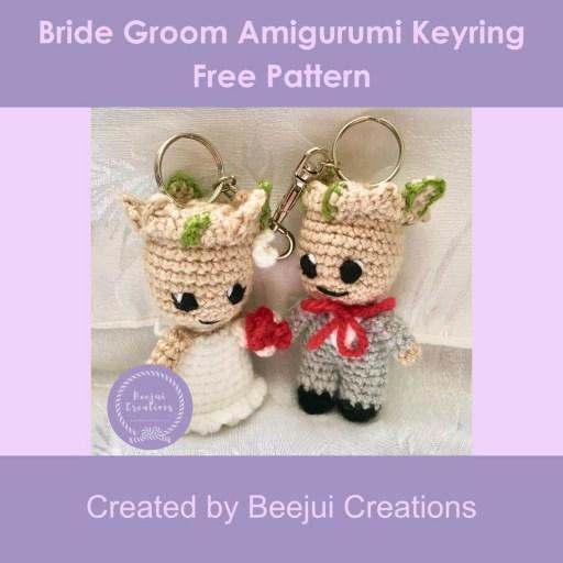 Bride Groom Character Keyring - Free Pattern