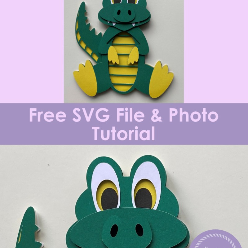 3D Layered Alligator SVG Free File & Tutorial