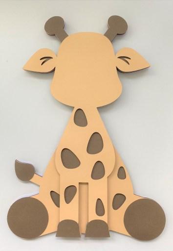 Giraffe Layer 5 adhered to Layers 1,2,3&4