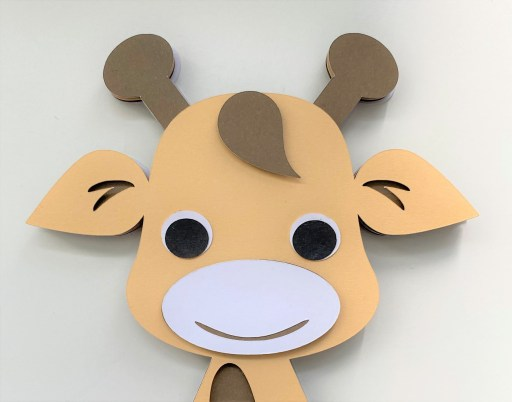 Giraffe's Face with Hair and Eyes