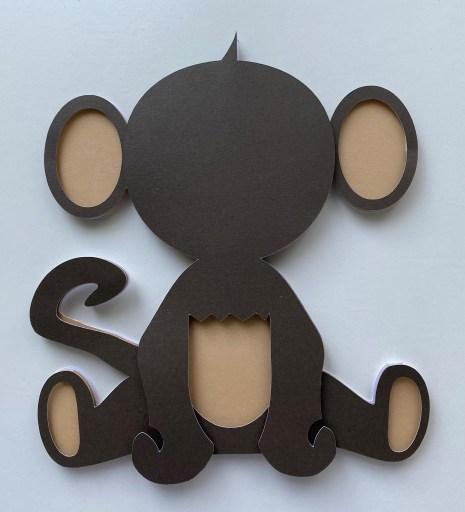 3D Layered Monkey SVG Free File & Tutorial