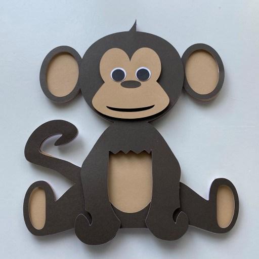 3D Layered Monkey SVG - Free File & Tutorial