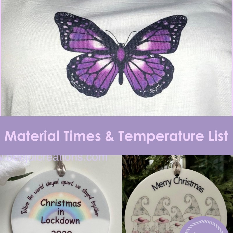 Sublimation Material List