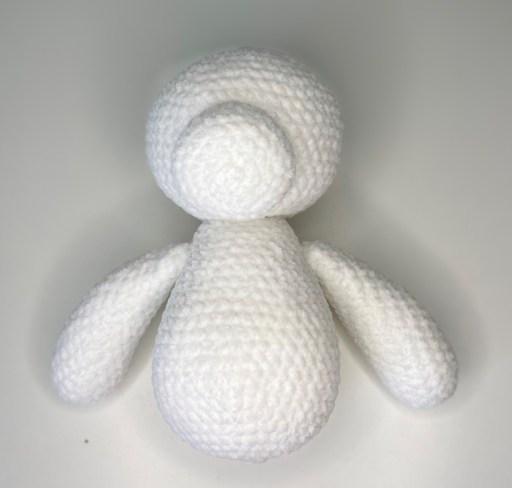 Crochet Polar Bear Pattern - Both arms sewn on