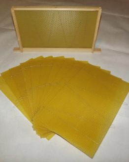 Wired Beeswax Foundation Sheets for British National Brood boxes