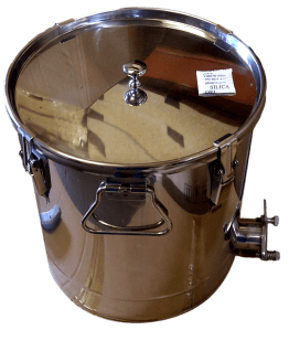 Settling Tank 25kg - Stainless Steel Body and Gate