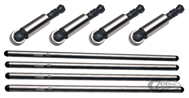 JIMS PUSHROD & SOLID ADJUSTABLE TAPPET KIT FOR SHOVELHEAD