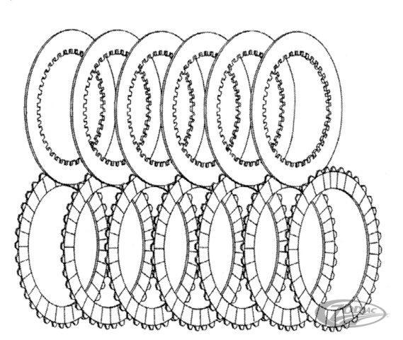 REPLACEMENT CLUTCH PLATES FOR PRIMO BELT DRIVE & PRO