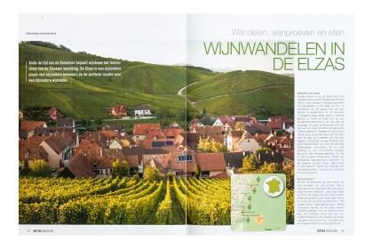 Reportage over wijnwandelen in de Elzas