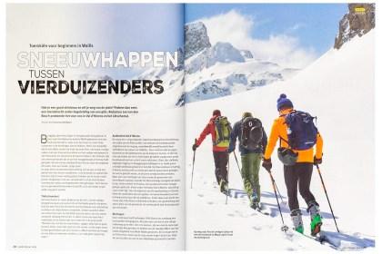 Hoogtelijn, het lijfblad van de NKBV - reisverhaal over toerskiën in Wallis