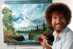 Bob Ross-die Freude an der Malerei.