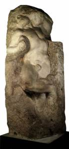 Michelangelo awakening slave, The sculpture is already inside