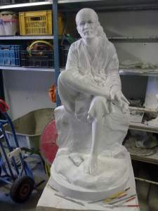 Marmor Shirdi Sai Statue feine Schnitzerei Prozess