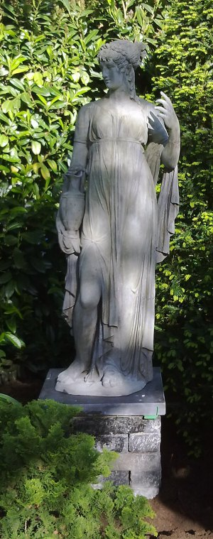 Garden statue Flora after recovery