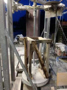 Holzrahmen für Gipsmodell. Servieren Panbeeld in Porphyr