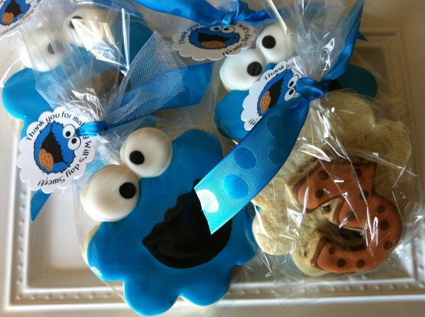 Cookie Monster Party Favors Bee-licious