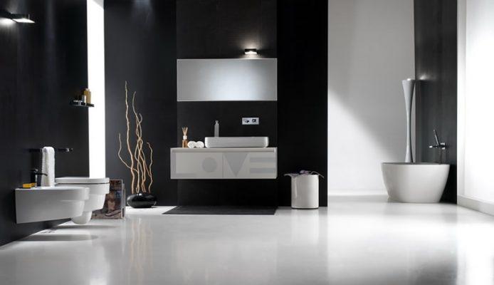 ห้องน้ำโทนสีขาว ดีไซน์เรียบง่ายบนความคลาสสิคที่หน้าหลงไหล 1