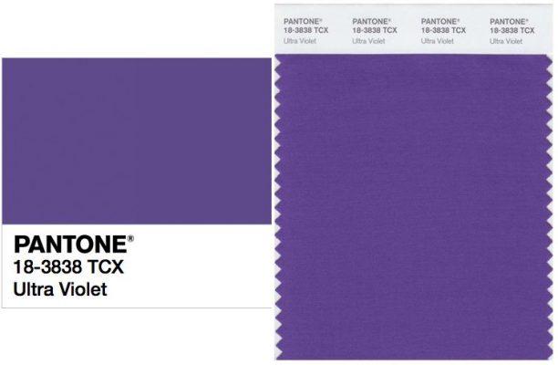 Ultra Violet ได้การยกย่องให้เป็นสีประจำปี 2018 โดยPantone 1