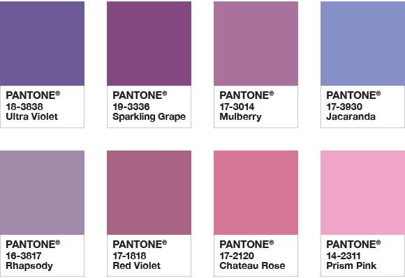 Ultra Violet ได้การยกย่องให้เป็นสีประจำปี 2018 โดยPantone 4