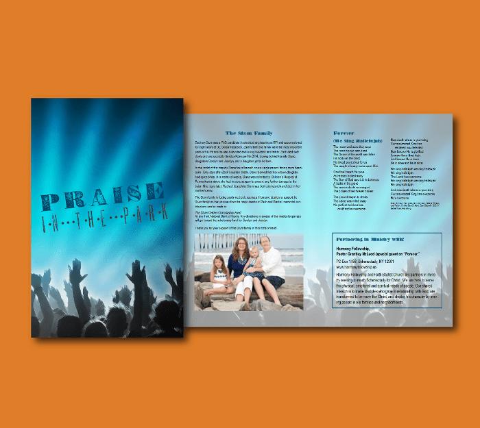 Program for Church Event - Beelissa Designs