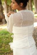 Bolero creme gold mit dem Schriftzug Braut