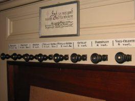 registers van het orgel