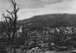 Village of Soupir after the Second Battle of the Aisne, 1917