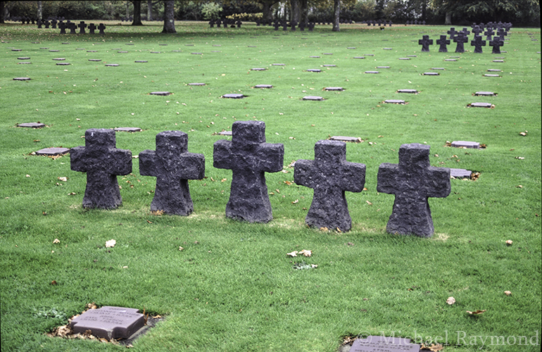 German grave markers, La Cambe German war cemetery.