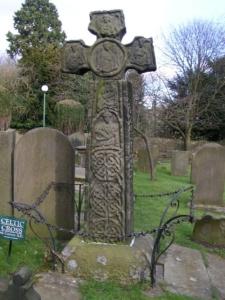 Celtic cross, Eyam churchyard