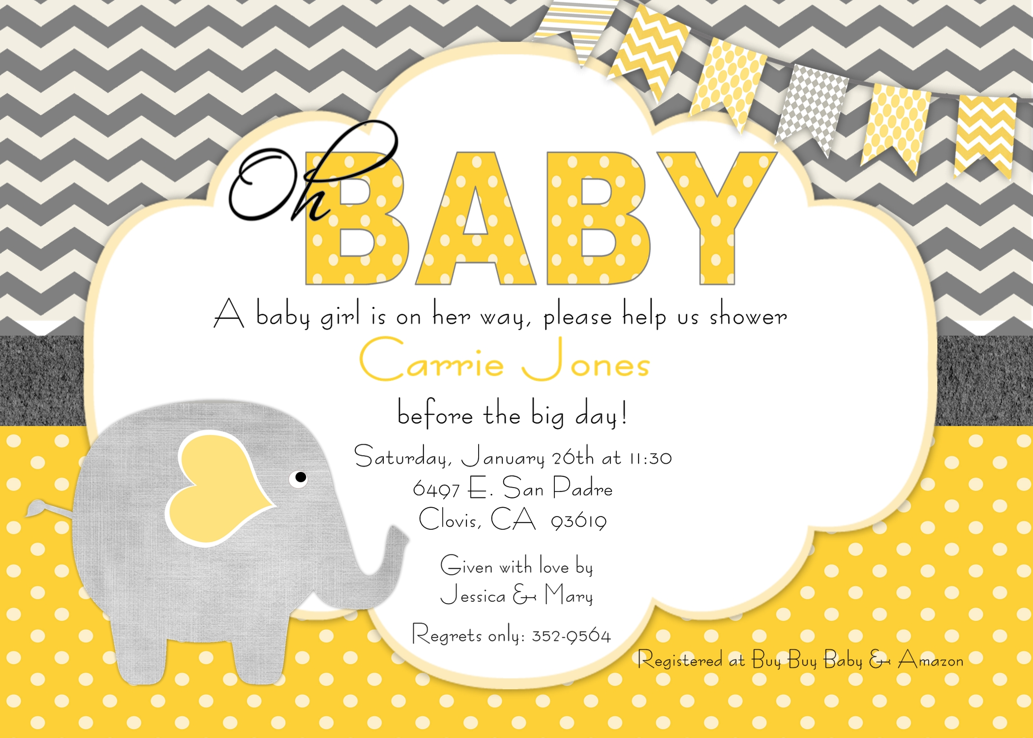 baby shower invitation  beenesprout