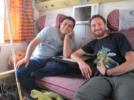12 - With Hamid on the train from Mashhad to Yazd