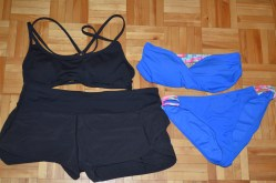 Running gear and swimsuit