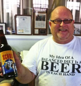 Dave and his great version of Belgian Sour - for Jackasses like me""
