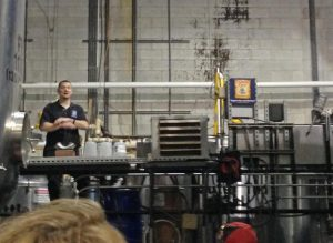Chad sharing the joy of beer on the tour