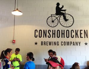 Cyclists old and new at Conshohocken Brewing