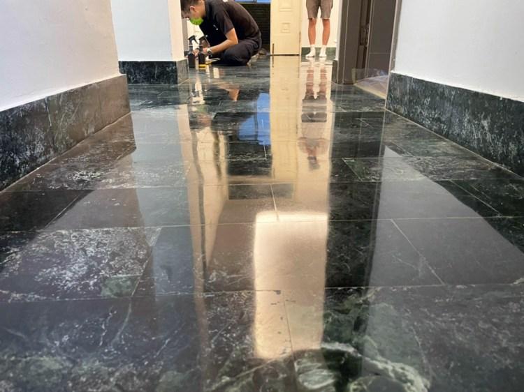 【台南石材美容/地板美容】旭浪石材美容|大理石地板研磨保養專家|講究研磨晶化工序手法|打造沽溜的光滑地板